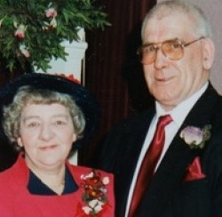 John and Betty Hodgkiss who were killed in a car accident and were found in the wreckage holding hands