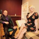 Jenny with her hypnotherapist David Kilmurry