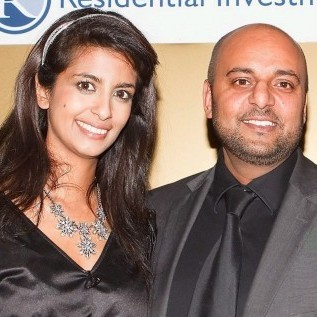 Parminder Janagle arm-in-arm with former Blue Peter presenter Konnie Huq at a property awards event. Janagle has now been jailed for running a brothel