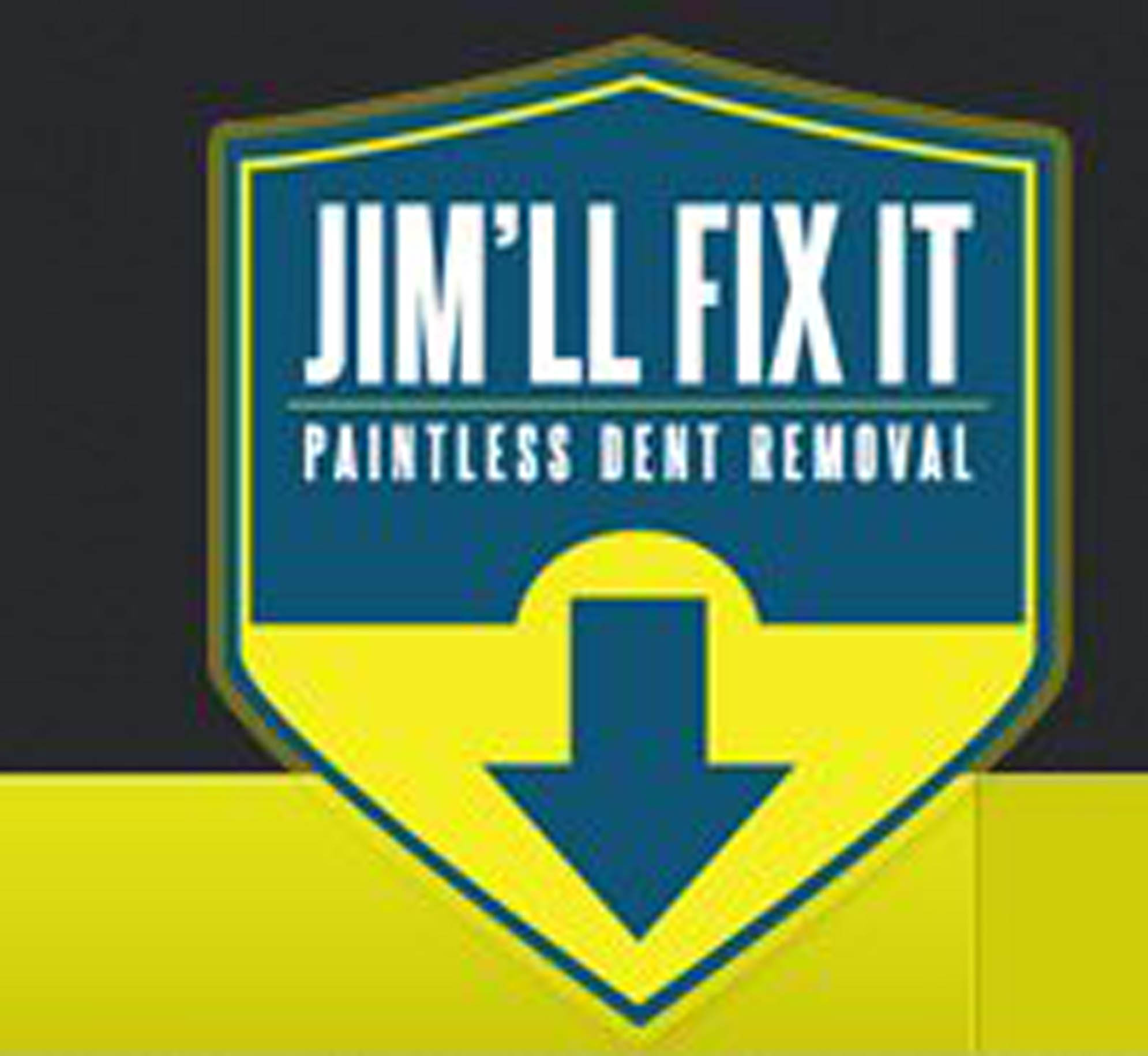 The car repair firm called 'Jim'll Fix It' logo. The business has been booming after the Jimmy Savile child sex scandal