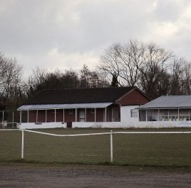 Knowle FC football ground in Solihull, West Midlands, which faces claims of racism after repeatedly subbing an Asian boy