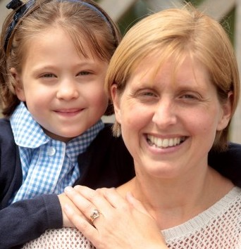 Lydia Warner, 7 with mum Kate after she donated part of her liver in a life-saving operation
