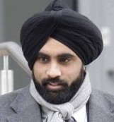 Pc Mandeep Uppal outside Warwickshire Justice Centre. He is accused of raping and assaulting a female member of the public over a four year period