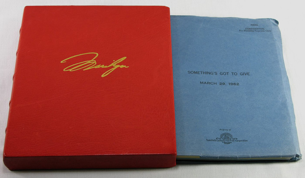 Marilyn Monroe's 51-page copy of the script from the unfinished 1962 movie 'Something's Got To Give'