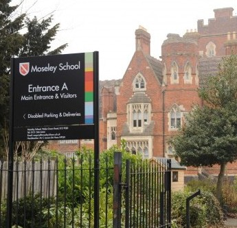 Moseley School in Moseley, Birmingham where a dinner lady has been sacked for serving up non-Halal meat to school children