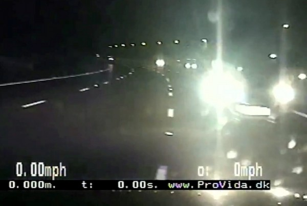 The moment cops crashed into the dementia sufferer's car on the M6