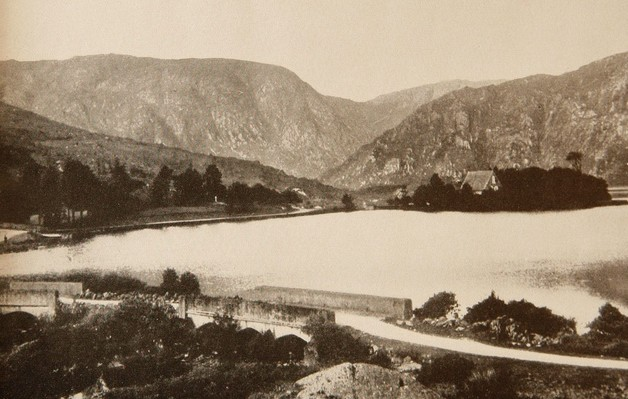 This post card of Gougane Barra in southern Ireland was on the Nazi hit list of regions to invade