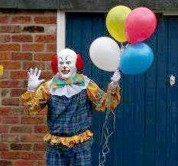 The Northampton Clown posing in the streets