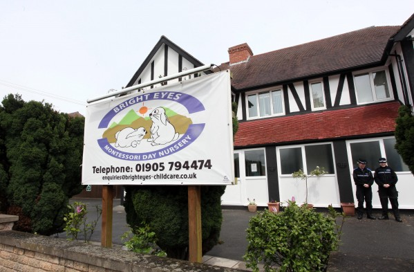 Bright Eyes Montessori Day Nursery in Droitwich, Worcestershire, where cops found cannabis plants while probing child sex abuse claims