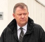 Retired detective Paul Greaves leaves Warwickshire Justice Centre where he denied stealing £113k