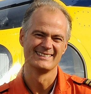 Helicopter pilot Pete Barnes, who was killed in a crash in central London