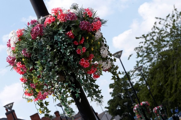 The 'cheap and tacky' flowers have angered residents