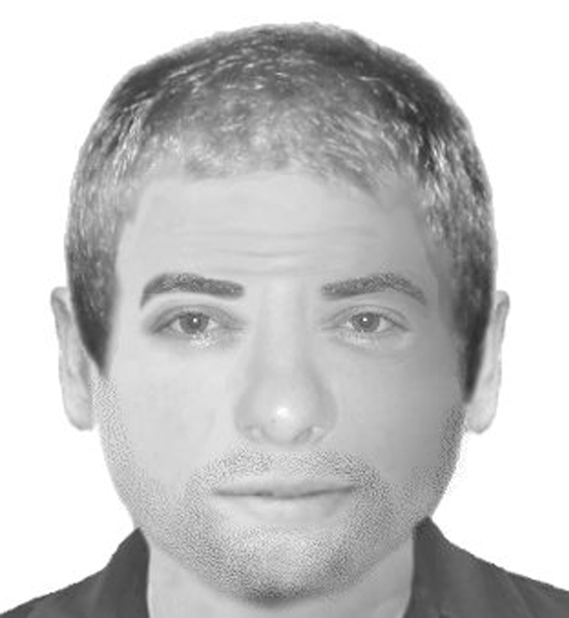 The e-fit of a man police are looking for