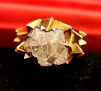 The 5.16 carat diamond ring made for the princess around 1970 which is for sale at around £750,000