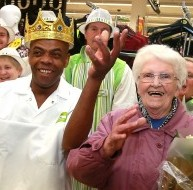 Baker Prince Charles who cut the ribbon for an ASDA store's £2 million revamp in Nottingham