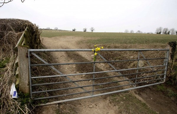 The farmland in Brockton, Shropshire where a man was shot dead in a tragic accident while out hunting rabbits with a friend
