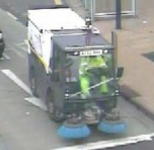 The PCN clearly showing a Sheffield City Council roadsweeper driving in a bus lane