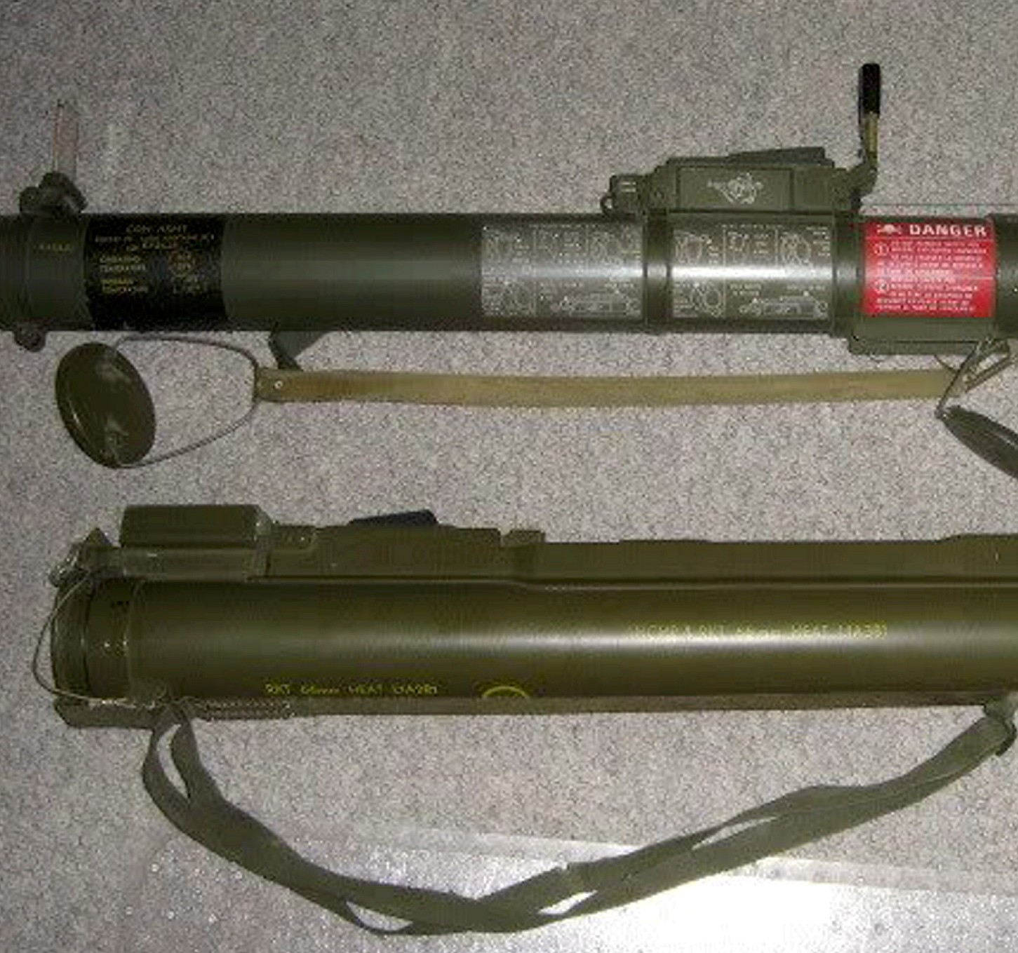 The rocket launcher found hidden underneath Mark Chalcroft's bed. The former soldier kept it as a memento of his service in the Territorial Army