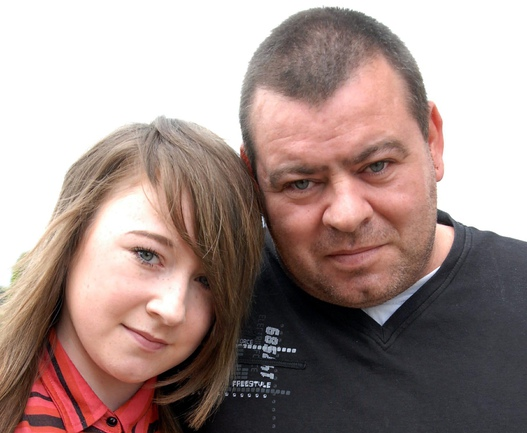 Stuart Whincup and daughter Jamie lee Whincup who was rushed to hospital after taking ecstasy and vodka at school