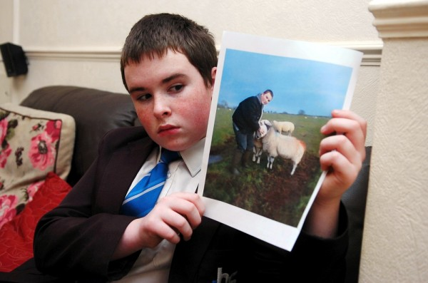 Jack Ellis whose pregnant pet sheep was brutally slaughtered