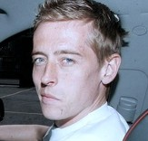 Peter Crouch at the wheel before being banned. He was caught speeding twice in under a month