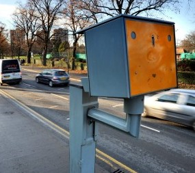 The Gatso Speed camera on New Road, Worcester, which has raised £1.6million in speeding fines