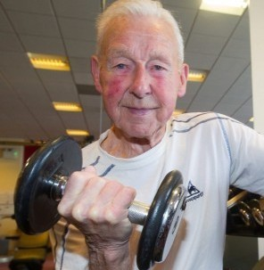 90-year-old war veteran, Stan Lendrem is still fighting fit after revealing he still goes to the gym three times a week