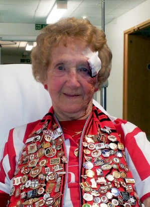 Mabel Smith in hospital after getting injured at a Stoke City football match