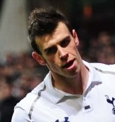 The world's most expensive player Gareth Bale celebrates while playing for Tottenham