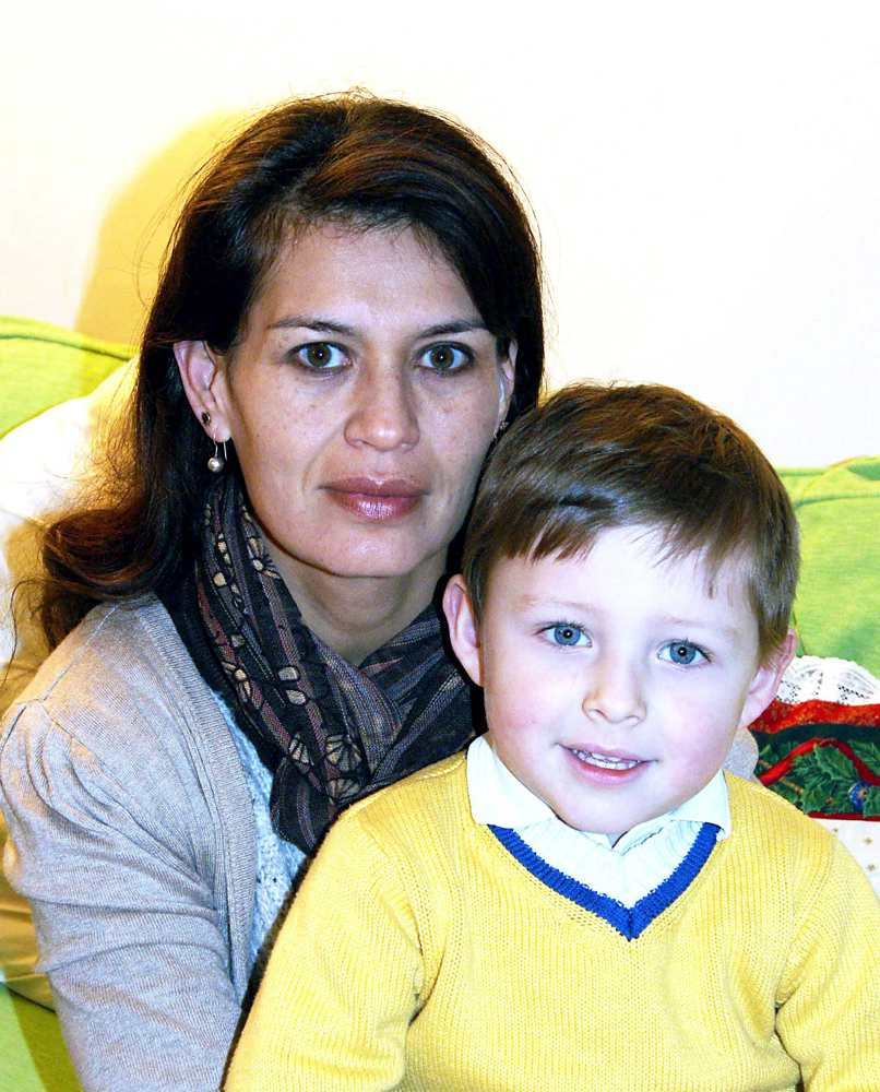 Yazmin Henderson with son Leo