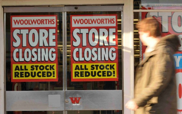 Economic changes have caused many major stores, including Woolworths, to close down