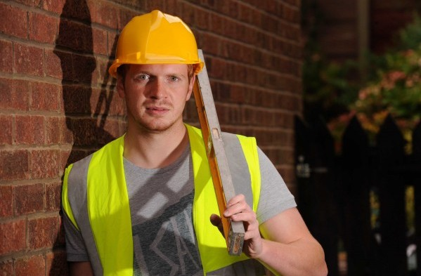 Hard hats and high visibility jackets are essential pieces of safety equipment for builders