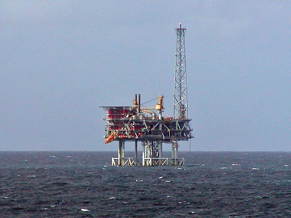 An oil platform in the North Sea where a billion more barrels could be extracted