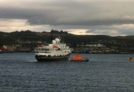 The MS Serenissima cruise ship grounded of Oban, Argyll and Bute