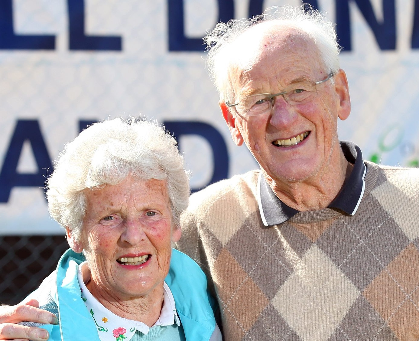 Andy Murray's grandparents Shirley and Roy Erskine at Dunblane Sports Centre in Murrays home town of Dunblane in Stirling