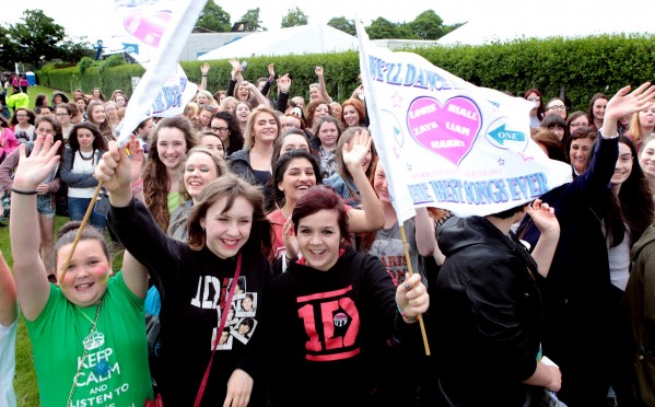 One Direction fans outside Murrayfield Stadium in Edinburgh at an earlier gig (file picture)