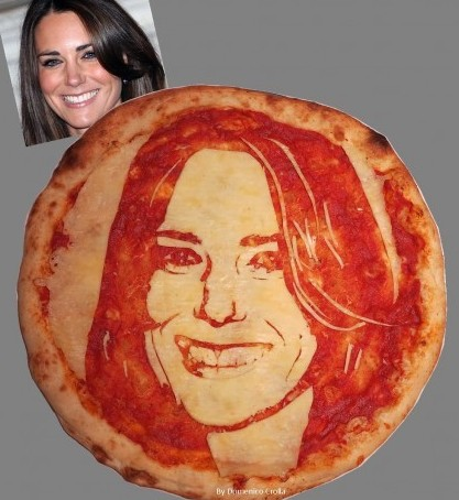 Kate Middleton has her face put onto a pizza