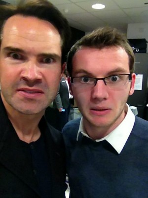 Stephen Sutton, right, with comedian Jimmy Carr in February 2013