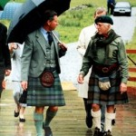 The Prince of Wales and Sir Jimmy Savile in Glencoe in July 1999. It's claimed the BBC covered up Savile's abuse because of his Royal connections