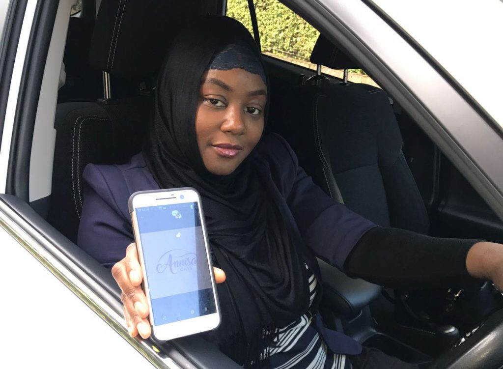 Sade Agboola who has launched a new taxi company that caters mostly for women - with only female drivers.