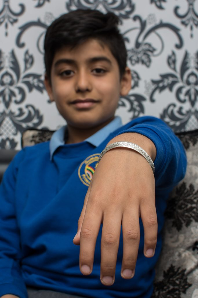Kaiden Singh (8), has been threatened with exclusion from his school if he doesn't take of his Sikh bangle that he worn all of his life.