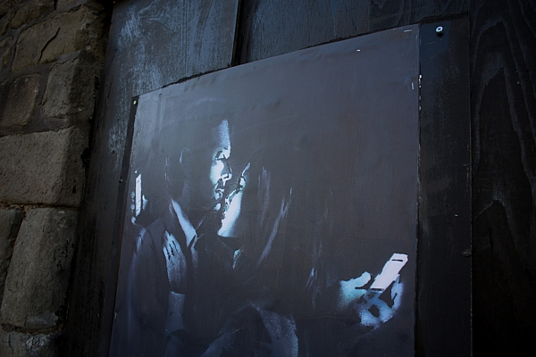 The piece has now been torn off the wall in Bristol and valued at £100,000