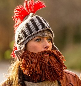 MadeinBristol TV presenters Natalie and Jamie try out the winters hippest hats - which come with woolly beards