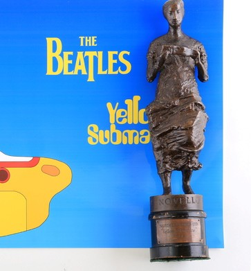 An Ivor Novello awarded for The Beatles Yellow Submarine song in 1966 which is now set to fetch £5,000 at auction
