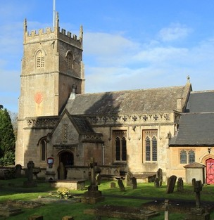 St Nicholas Church, Bathampton, Bath where a bell ringer was hospitalised after becoming entangled in the ropes