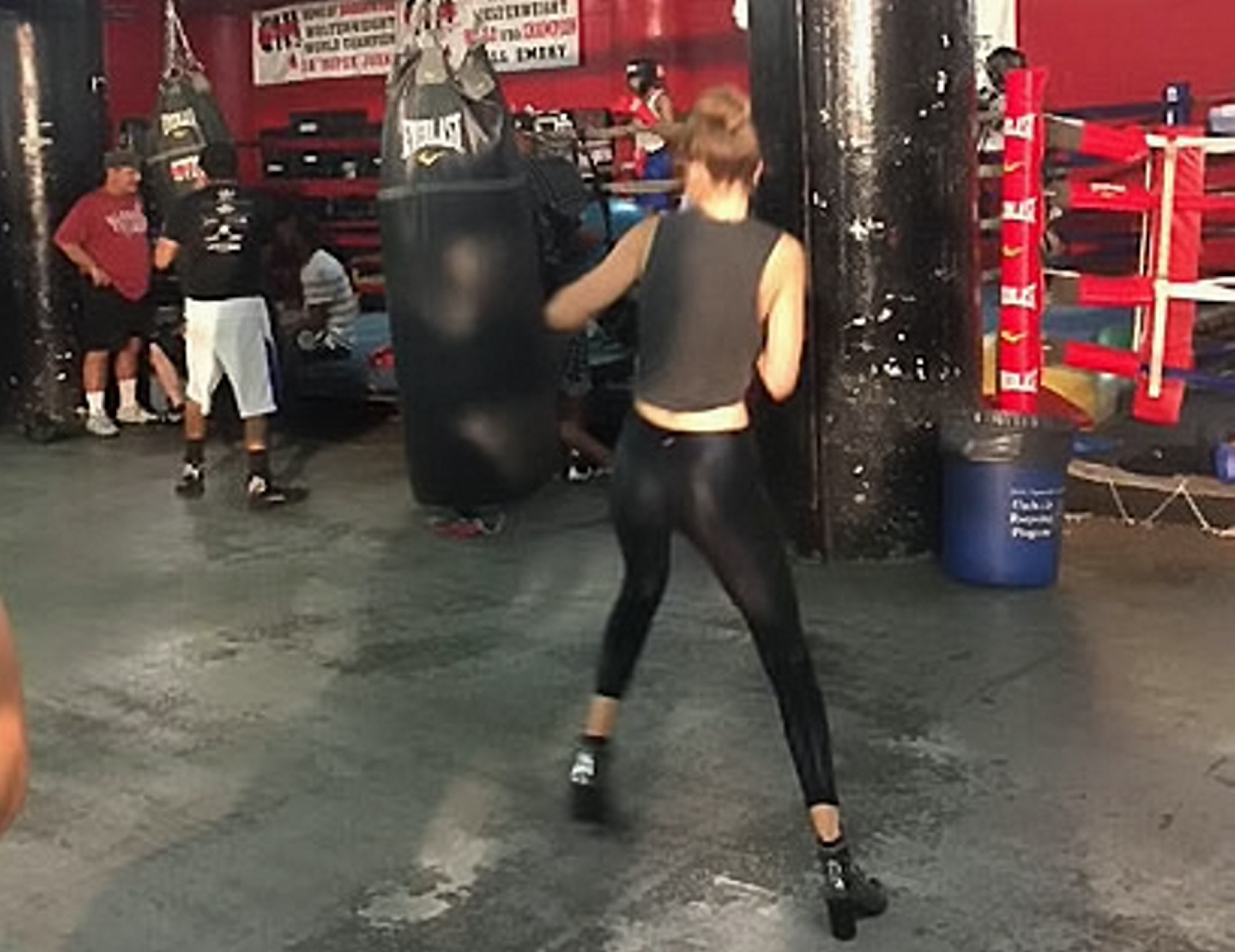 Gigi Hadid worked up a sweat boxing at a legendary New York
