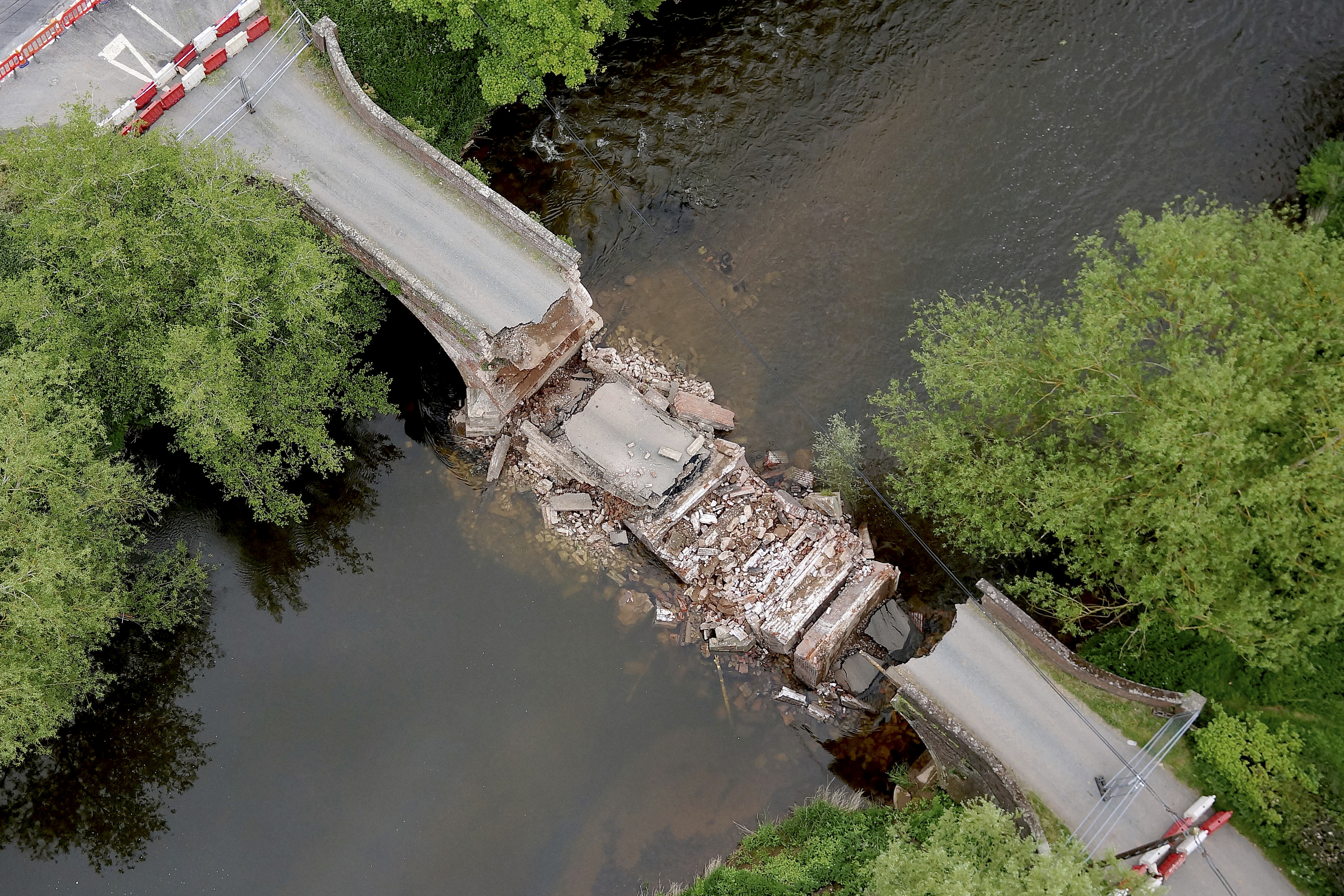 WATCH : Amazing aerial drone footage of collapsed Grade II