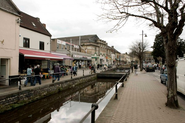 The high street in Midsomer Norton, Somerset - the area that former US President George W Bush can trace his family from
