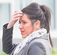 Care assistant Sarah Pilkington who is accused of abusing dementia patients