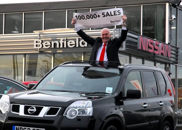 Ken Searle, 67, who has sold an incredible 100,000 motors in his career as a car dealer